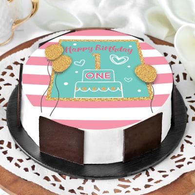 First Birthday Cake (Half Kg)