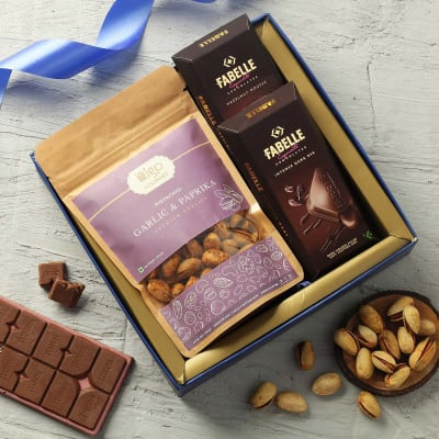 Flavored Dry Fruits and Chocolates Hamper