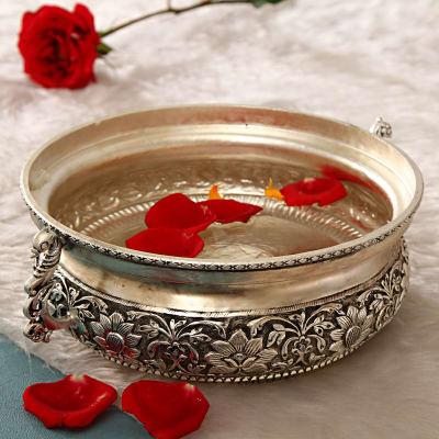 Floral Design Copper Urli  Bowl