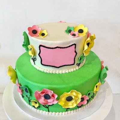 Floral Garden Fondant Cake (6 Kg)