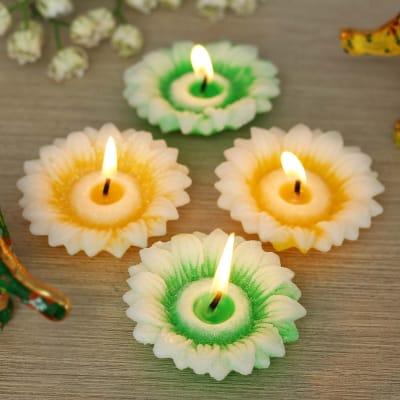 Floral Shaped Tea-light Candles
