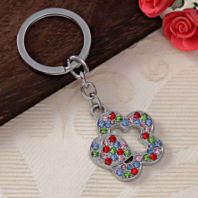 Flower and Heart Keychain