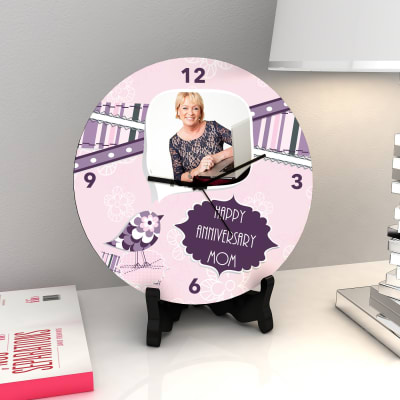 Flower Bird Personalized Anniversary Clock