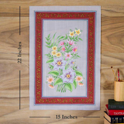 Flower Florish Silk Painting