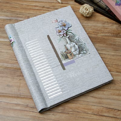 Flower Pot Designed Personalized Photo Album