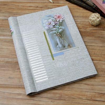 Flowers Designed Personalized Photo Album