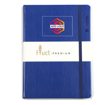 Fluct A5 Blue Premium Diary - Customized with Logo