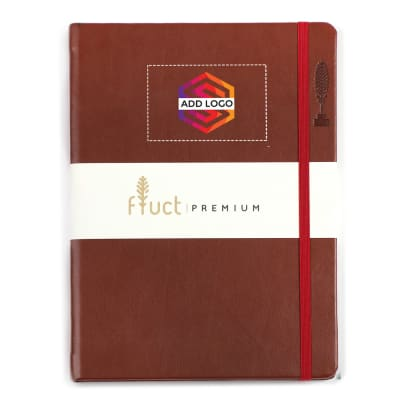 Fluct A5 Brown Premium Diary - Customized with Logo