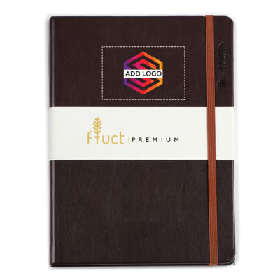 Fluct A5 Dark Brown Premium Diary - Customized with Logo