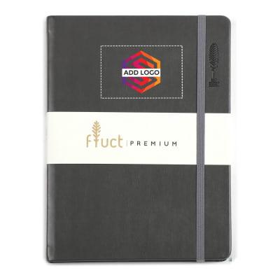 Fluct A5 Dark Grey Premium Diary - Customized with Logo