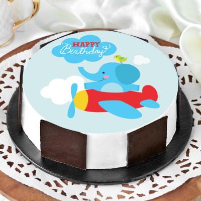 Flying Elephant Birthday Cake (1 Kg)
