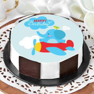 Flying Elephant Birthday Cake (Half Kg)