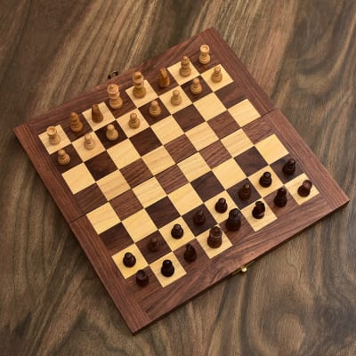 Foldable Wooden Chess Board