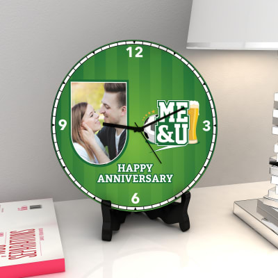 Football and Beer Personalized Anniversary Clock