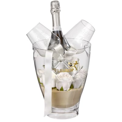 "For the One Moment: Prosecco Albino Armani DOC (75 cl) incl. ice bucket and two ""Connaisseur"" gl"