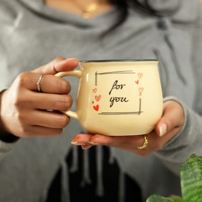 For You Ceramic Coffee Mug- Big Size