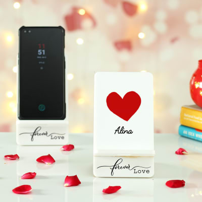 Forever Love Personalized Mobile Stand