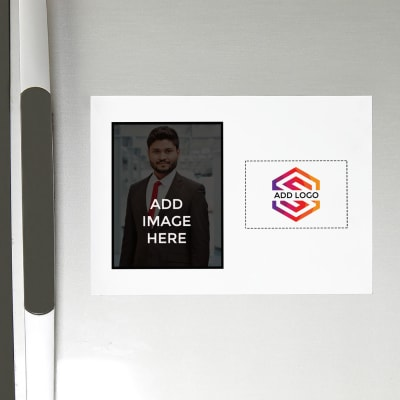 Fridge Magnet (A4 Size) - Customized with Image and Logo