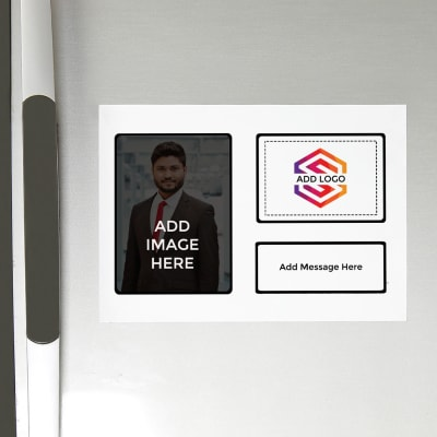 Fridge Magnet (A4 Size) - Customized with Image, Logo and Message
