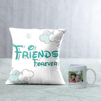 Friends Forever Personalized Cushion Mug