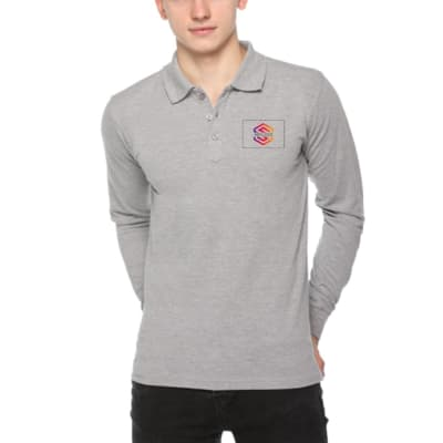Full Sleeves Polo T-Shirt - Customized With Logo