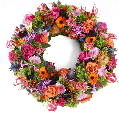 Funeral: Beautiful moments; Funeral Bouquet Garland