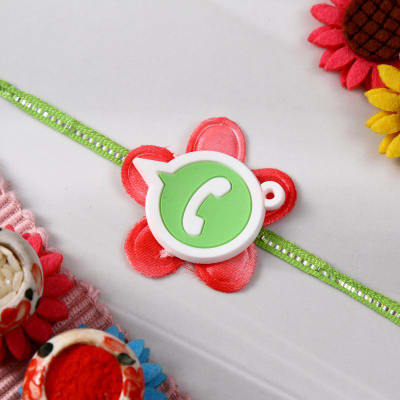 Funky Whatsapp Dial Rakhi for Kids