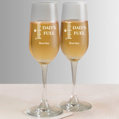 Funny Personalized Champagne Glasses (Set of 2)