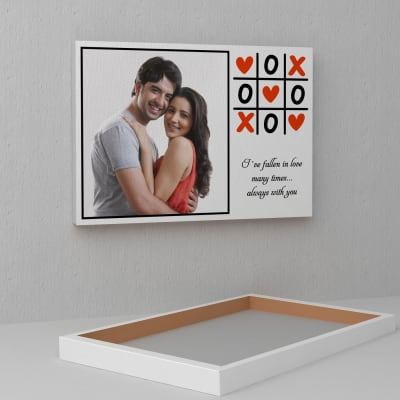 Game of Love Personalized A3 Canvas