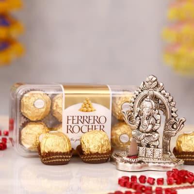 Ganesha Incense Holder with Ferrero Rochers