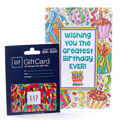GAP 25 Gift Card With Birthday Greeting