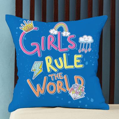 Girl Power Customized Pillow