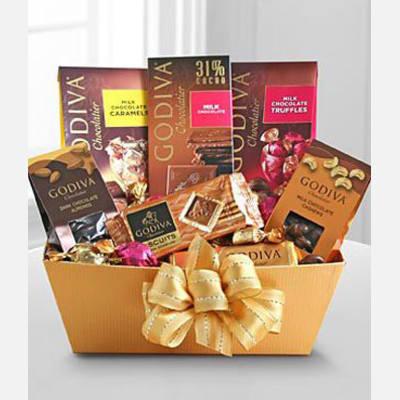 Godiva Milk Chocolate Expressions Basket
