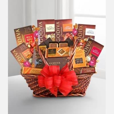 Godiva Supreme Chocolate Basket