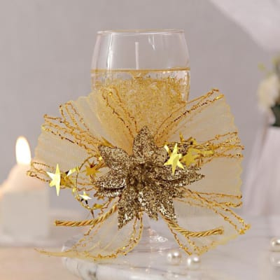 Golden Gel Love Candle Glass