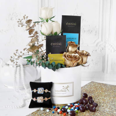 Golden Gratitude Rakhi Hamper