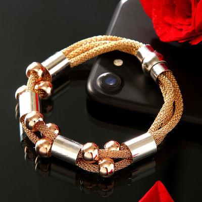 ce21bb6e515ee Gorgeous Golden-Silver Double Strand Bracelet