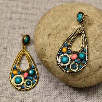 Gorgeous Metallic Earrings