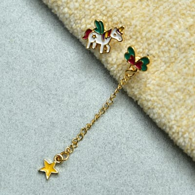 Gorgeous Unicorn and Butterfly Pattern Earring