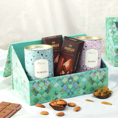 Gourmet Chocolates and Dry Fruits in Gift Box