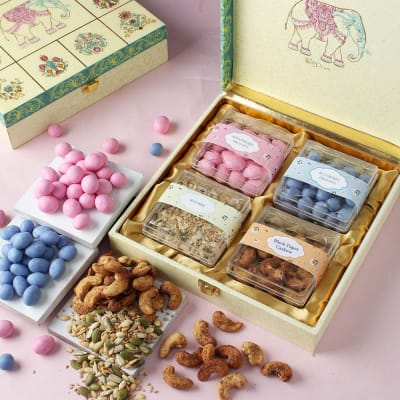 Gourmet Goodies In Traditional Art Gift Box – Customized With Logo