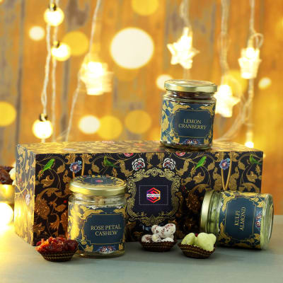 Gourmet Hamper in Designer Gift Box - Customized with Logo