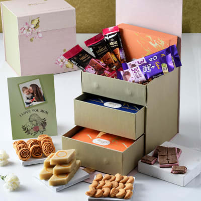 Gourmet Savouries and Chocolates Hamper for Mom