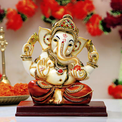 Graceful Lord Ganesha Idol Gift Send Home And Living