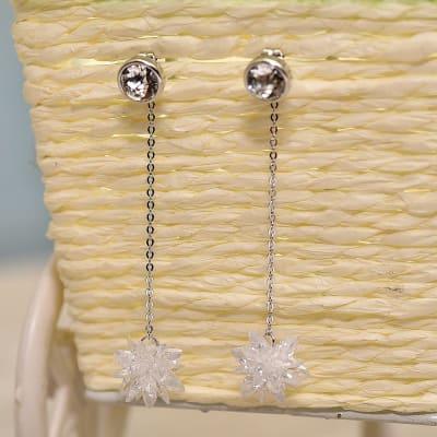 Graceful Swarovski Dangling Earrings