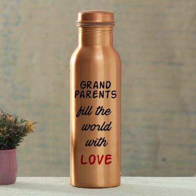 Grandparents' Love Customized Copper Bottle