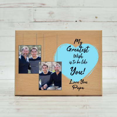 Greatest Dad Personalized Wooden Photo Frame