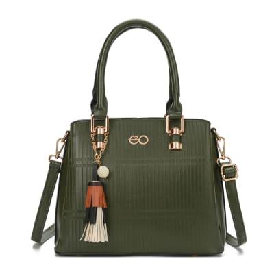 Green Satchel Handbag for Women