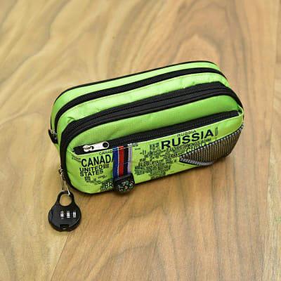 Green Zipper Lock Pouch cum Pencil Box