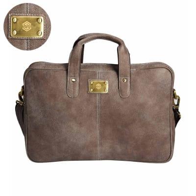 Grey Bovino Men's Laptop Bag